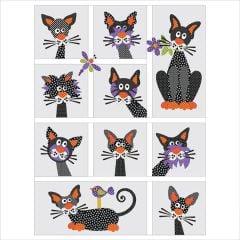 Alley Catz - Quilt - 10 Block - Set - Applique Quilt