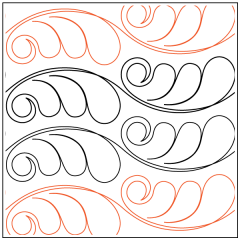 Andi's Feather Curl - Pantograph