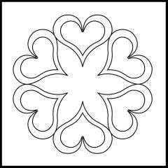 Andi's Ribbon Heart - Block #3