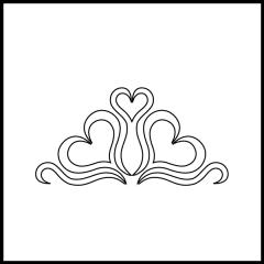 Andi's Ribbon Heart - Triangle Block