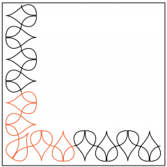 Anise - Sashing - Corner