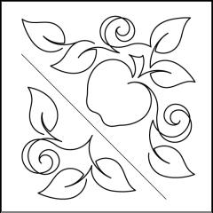 Apple Orchard - Triangle Blocks - Stencil