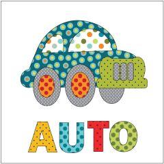 Automobile - Retro Dotz - w/ Letters - Applique