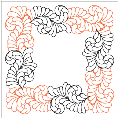 Basic Curled Feather - Panto/Corner Layout