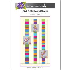 Bird, Butterfly and Flower Quilt - Applique Pattern