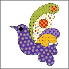 Bird - Purple Dotz - Applique