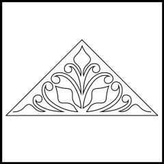 Budding Ferns - Triangle Block