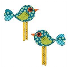 Chick-a-Dee - Blue - Applique