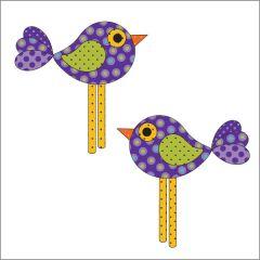 Chick-a-Dee - Violet - Applique
