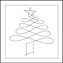 Christmas Doodle - Tree - Block - Design Board