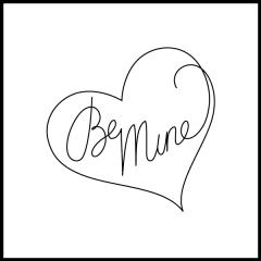 Conversation Hearts - Be Mine - Motif