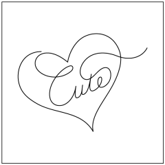 Conversation Hearts - Cute - Motif