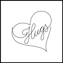 Conversation Hearts - Hugs - Motif