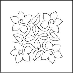 Daffodil - Block #2 - Stencil by Patricia E. Ritter