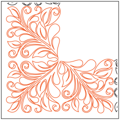 Dahlia Feathers #1 - Corner
