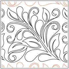 Dahlia Feathers #2 - Pantograph