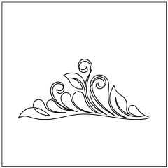 Dahlia Feathers - Triangle Block