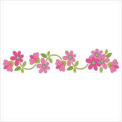 Daisy Dotz - Pink - Table Runner / Panel