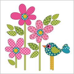 Daisy Dotz - Small - Pink - Applique
