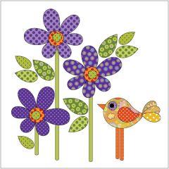 Daisy Dotz - Small - Violet - Applique