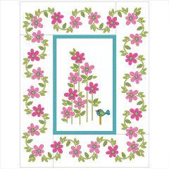 Daisy Dotz - Large - Pink - Applique Quilt