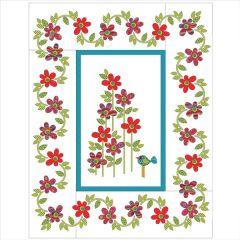 Daisy Dotz - Large - Red - Applique Quilt