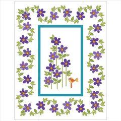 Daisy Dotz - Large - Violet - Applique Quilt