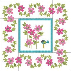 Daisy Dotz - Medium - Pink - Applique Quilt