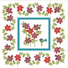 Daisy Dotz - Medium - Red - Applique Quilt