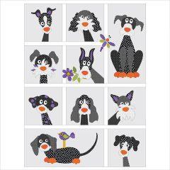 Dog Park - Quilt - 10 Block - Set - Applique Quilt