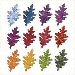 Falling Leaves - Oak - Small - Batik - Applique