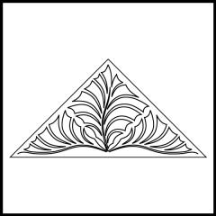 Fantasy Fronds - Triangle Block #1