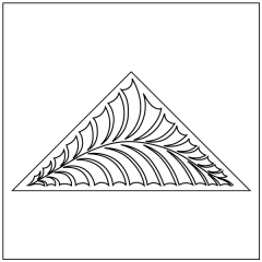 Fantasy Fronds - Triangle Block #2