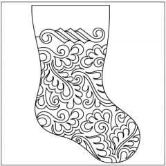 Feather Meander - Stocking