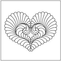 Feathered Heart - Motif #1