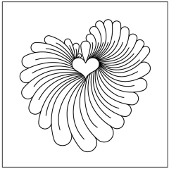 Feathered Heart - Motif #4