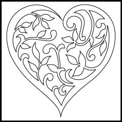 Filigree Hearts - Motif