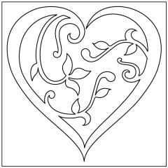 Filigree Paper Hearts - Motif