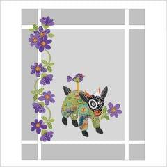 Mama Goat in PJ's - Green - Applique Quilt Set