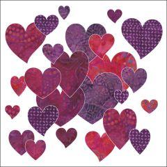Bohemian Chic - Hearts - Fuchsia - Applique