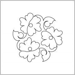 Hibiscus - Block #1 - Stencil