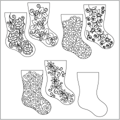 Home for the Holidays - Stocking - Set #1