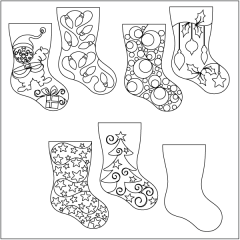 Home for the Holidays - Stocking - Set #4