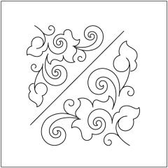 Honeysuckle - Triangle Blocks - Stencil