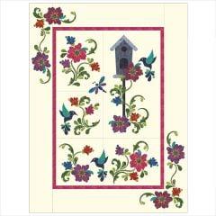 Hummingbird Garden - 7 Block - Applique Quilt