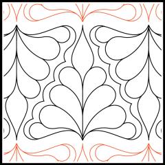 Isosceles Feathers - Pantograph