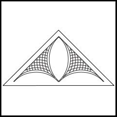 Janet-Lee's Rosebud - Triangle Block #1