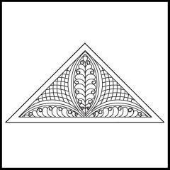Janet-Lee's Rosebud - Triangle Block #2