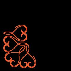 Lace Heart - Border - Corner