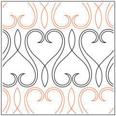 Lace Heart - Border - Pantograph